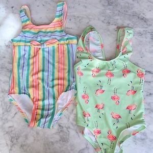2 SET OF ONE PIECE TODDLER SWIM SUITS